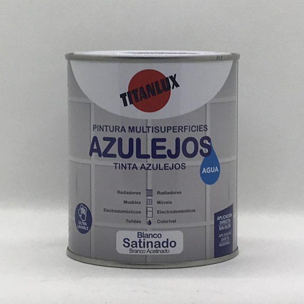 Pintura Multisuperficies AZULEJOS al Agua Blanco Satinado 750 ml.