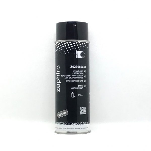 Spray Pintura Antigravilla Zaphiro Negro 670 ml.